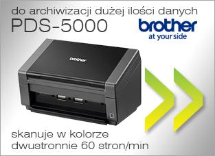 PDS-5000 - do archiwizacji dużej ilości danych, skanuje w kolorze dwustronnie 60 stron/min
